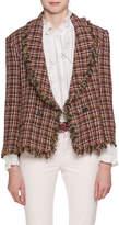 Etoile Isabel Marant Nicole Shawl-Collar Tweed Blazer