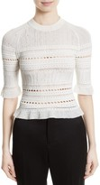 3.1 Phillip Lim Women's Pointelle Lace Raglan Tee