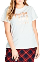 City Chic Plus Size Women's Clouds Tee