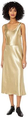 Vince Metallic Tank Dress (Pale Gold) Women's Clothing