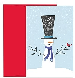 MASTERPIECE Snowman Holiday Cards Set of 18