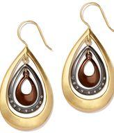New York Tri-Tone Orbital Teardrop Earrings