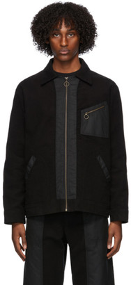 Nicholas Daley Black Zip Through Jacket