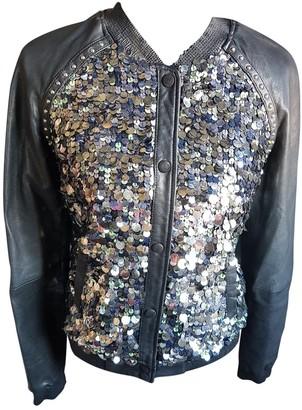 Maison Scotch Black Leather Jacket for Women
