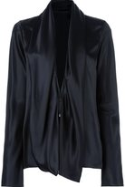 Haider Ackermann draped collar shirt