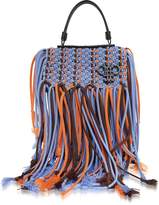 Emilio Pucci Lavender Canvas Long Fringed Satchel Bag