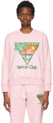 Casablanca Pink Tennis Club Sweatshirt