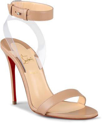 Christian Louboutin Jonatina 100 beige leather sandals