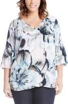 Karen Kane Print Flare Sleeve Top