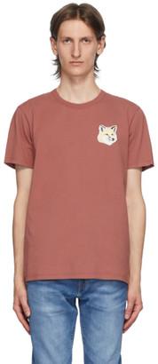 MAISON KITSUNÉ Pink Big Pastel Fox Head Patch T-Shirt
