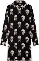 Saint Laurent Skull Print Shirt Dress