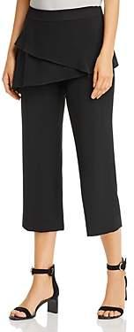 Snider Bono Asymmetric Overlay Cropped Pants