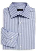 Ike Behar Regular-Fit Dobby Striped Cotton Dress Shirt