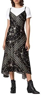AllSaints Larisa Assam Slip Dress