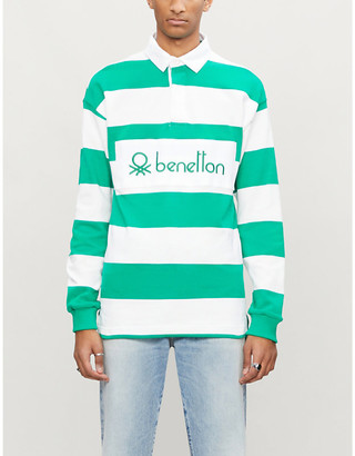 Benetton Striped cotton polo shirt