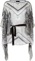 Class Roberto Cavalli waist-tie patterned blouse
