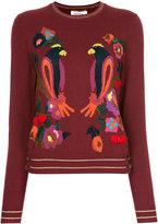 Muveil intarsia knit jumper