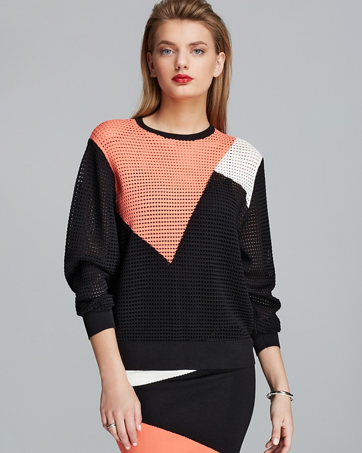 Torn By Ronny Kobo Sweater - Zivinia Color Block