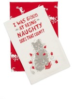 Primitives By Kathy Naughty Set Of 2 Dish Towels