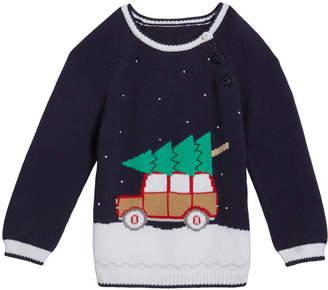 Zubels Boy's Christmas Car Knit Sweater, Size 12M-7