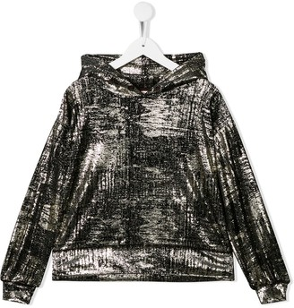 Andorine metallic sheen hoodie