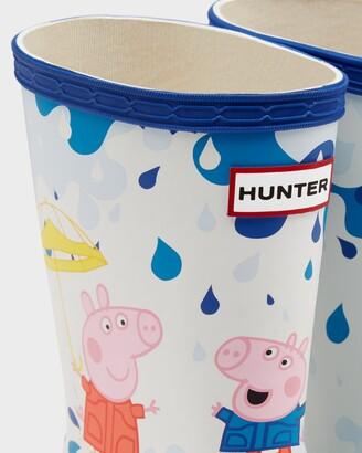 Hunter Kids First Peppa Pig Muddy Puddles Wellington Boots