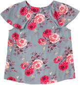 Cath Kidston Antique Rose Crepe Frill Detail Top
