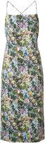 Cushnie et Ochs floral print midi dress - women - Polyester/Spandex/Elastane/Viscose - 2