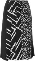 Salvatore Ferragamo multi print pleated skirt