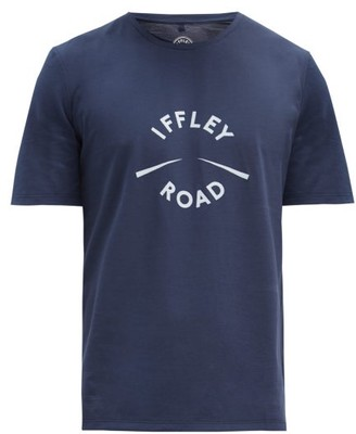 Iffley Road York Logo-print Technical-jersey T-shirt - Navy Multi