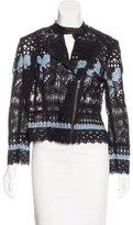 Yigal Azrouel Crochet Zip-Front Jacket w/ Tags