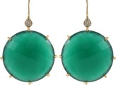 Andrea Fohrman 22M Faceted Green Onyx Earrings with Diamonds