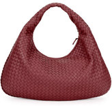 Bottega Veneta Veneta Intrecciato Large Hobo Bag, Wine