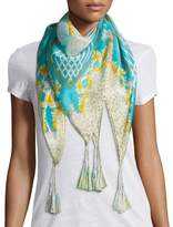 Johnny Was ECHO SILK GRGT PRINT SCARF
