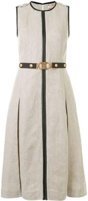 Tory Burch Belted Midi Dress