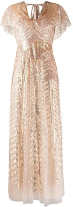 Temperley London Dusk sequinned tulle gown