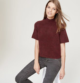 LOFT Cropped Mock Neck Sweater