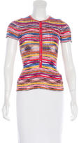 M Missoni Short Sleeve Knit Top