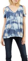 Tart Collections Blue Tie-Dye Top