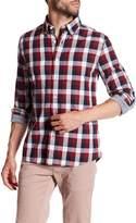 Jack Spade Sheppard Trapunto Checkered Trim Fit Shirt