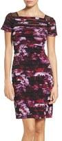 Adrianna Papell Women's Shutter Pleat Sheath Dress