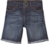 Dolce & Gabbana Mid Wash Denim Shorts with Frayed Edges