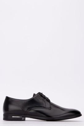 Prada Logo Embossed Lace-Up Shoes