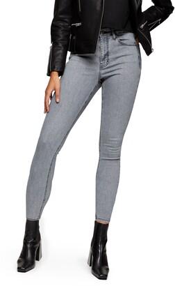 Topshop New Grey Jamie High Waist Crop Skinny Jeans