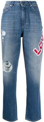 Love Moschino Logo Patch Jeans