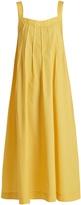 THREE GRACES LONDON Ninetta sleeveless cotton-poplin maxi dress