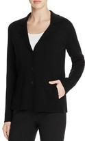 Eileen Fisher Notch Collar Knit Wool Jacket