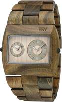 WeWood Men's Jupiter JUPITER-ARMY Brown Wood Analog Quartz Watch with Beige Dial