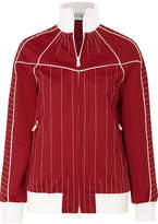 Valentino Embroidered Satin-jersey Jacket