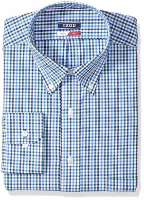 Izod Men's Big Dress Shirts Tall Fit Stretch Check